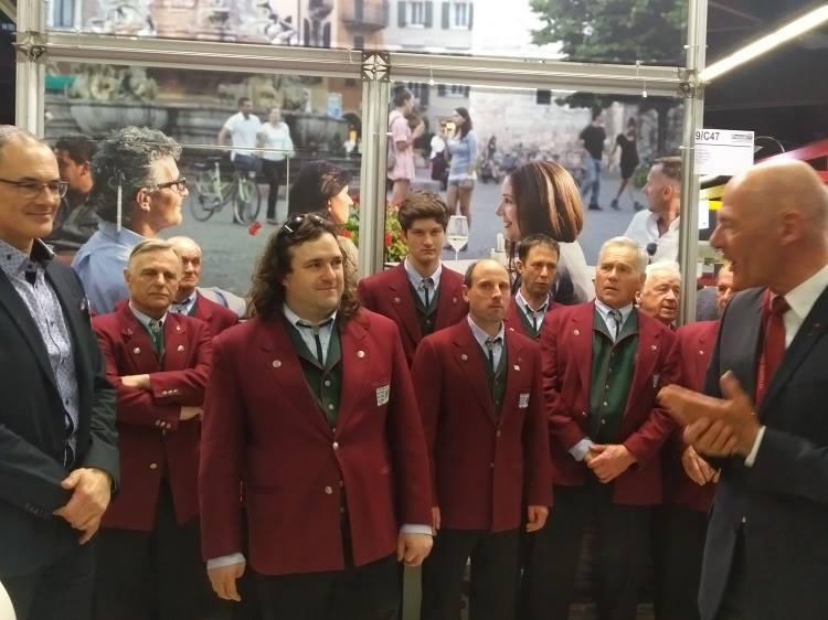 Freizeit Messe in Nürnberg am 17. März 2017 Salottello Freizeit-Trentino mit dem Coro Paganella am Stand TRENTINO!
